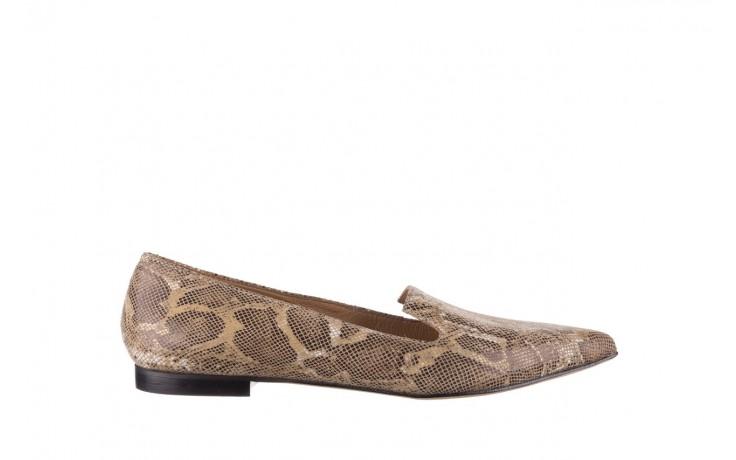 Półbuty bayla-188 001 jaszczurka beż, skóra naturalna  - mokasyny i lordsy - półbuty - buty damskie - kobieta
