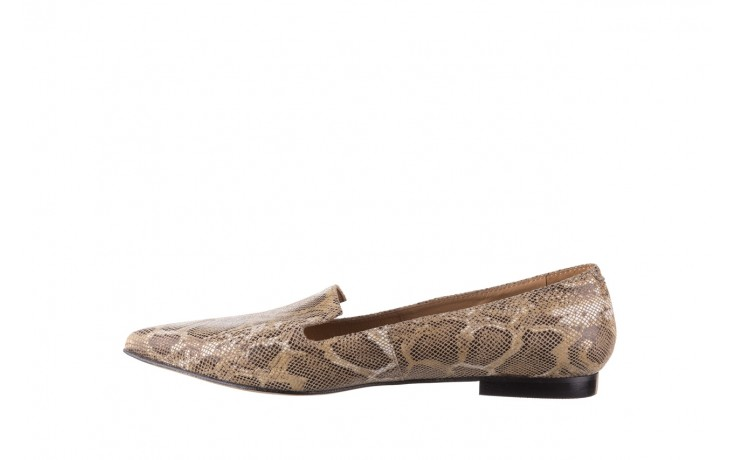 Półbuty bayla-188 001 jaszczurka beż, skóra naturalna  - mokasyny i lordsy - półbuty - buty damskie - kobieta 2