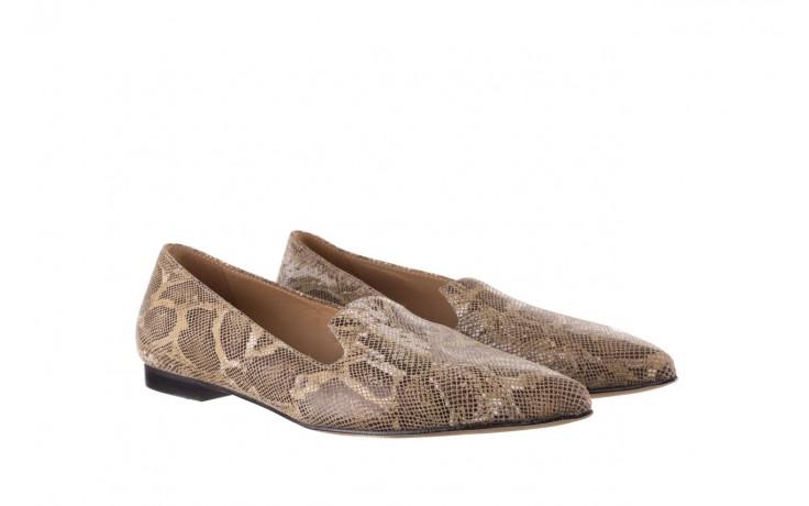 Półbuty bayla-188 001 jaszczurka beż, skóra naturalna  - mokasyny i lordsy - półbuty - buty damskie - kobieta 1