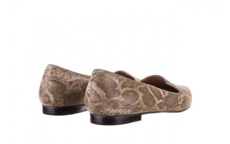 Półbuty bayla-188 001 jaszczurka beż, skóra naturalna  - mokasyny i lordsy - półbuty - buty damskie - kobieta 3