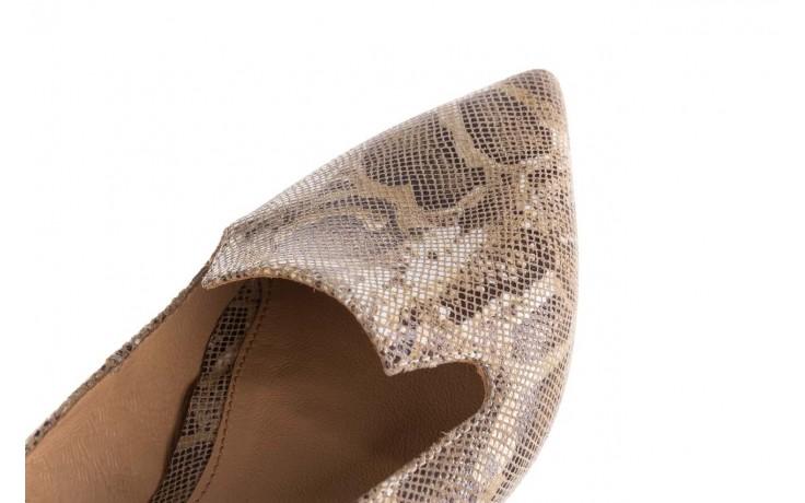 Półbuty bayla-188 001 jaszczurka beż, skóra naturalna  - mokasyny i lordsy - półbuty - buty damskie - kobieta 5