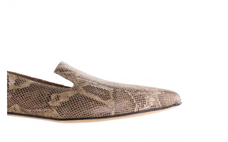 Półbuty bayla-188 001 jaszczurka beż, skóra naturalna  - mokasyny i lordsy - półbuty - buty damskie - kobieta 6