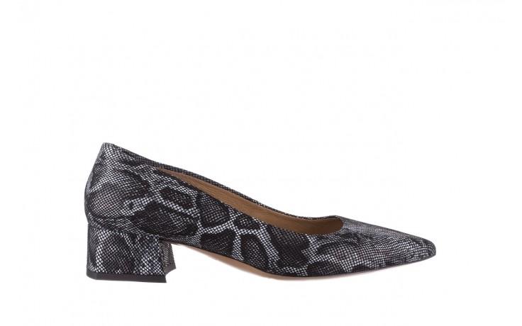 Czółenka bayla-188 002 jaszczurka szary, skóra naturalna  - czółenka - buty damskie - kobieta