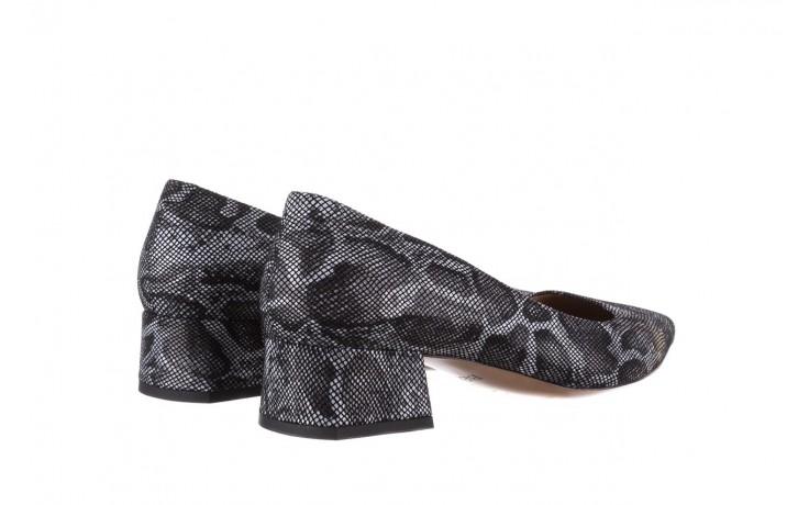 Czółenka bayla-188 002 jaszczurka szary, skóra naturalna  - czółenka - buty damskie - kobieta 3