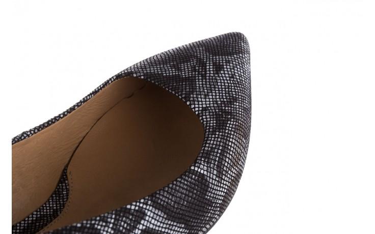 Czółenka bayla-188 002 jaszczurka szary, skóra naturalna  - czółenka - buty damskie - kobieta 5