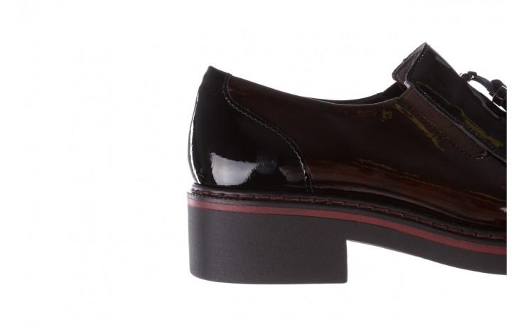 Półbuty pitillos 5820 marr-negr, bordowy, skóra naturalna lakierowana  - mokasyny i lordsy - półbuty - buty damskie - kobieta 8