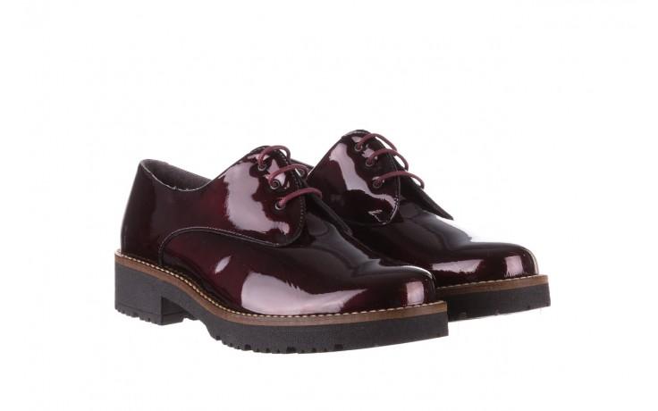 Półbuty pitillos 5790 burdeos, bordowy, skóra naturalna lakierowana  - na obcasie - półbuty - buty damskie - kobieta 1