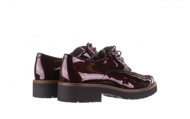 Półbuty pitillos 5790 burdeos, bordowy, skóra naturalna lakierowana  - na obcasie - półbuty - buty damskie - kobieta 4