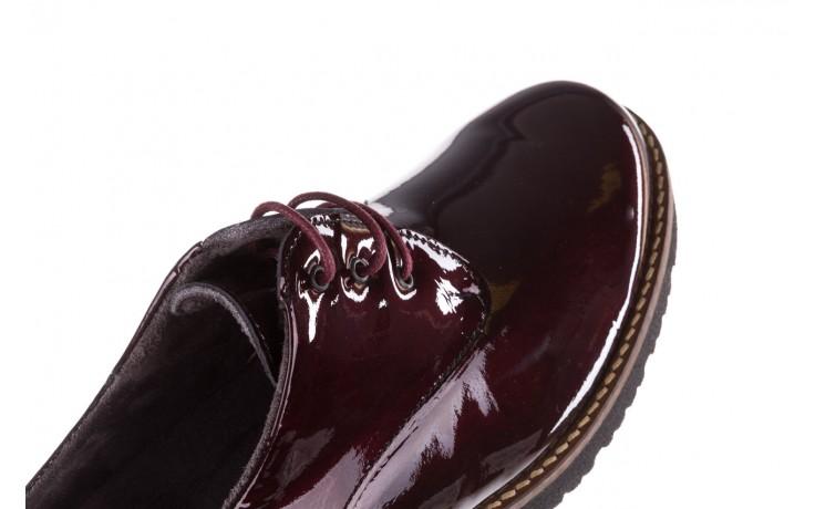 Półbuty pitillos 5790 burdeos, bordowy, skóra naturalna lakierowana  - na obcasie - półbuty - buty damskie - kobieta 6