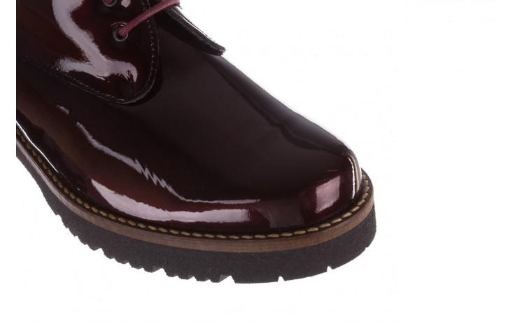 Półbuty pitillos 5790 burdeos, bordowy, skóra naturalna lakierowana  - na obcasie - półbuty - buty damskie - kobieta 8