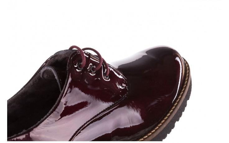 Półbuty pitillos 5790 burdeos, bordowy, skóra naturalna lakierowana  - na obcasie - półbuty - buty damskie - kobieta 10