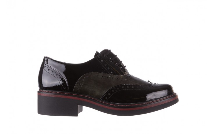 Półbuty pitillos 5821 negro-verd, czarny, skóra naturalna lakierowana - półbuty - buty damskie - kobieta