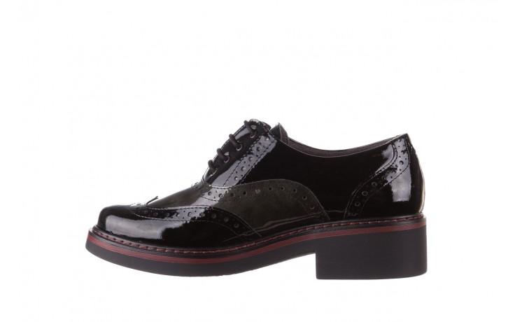 Półbuty pitillos 5821 negro-verd, czarny, skóra naturalna lakierowana - półbuty - buty damskie - kobieta 2