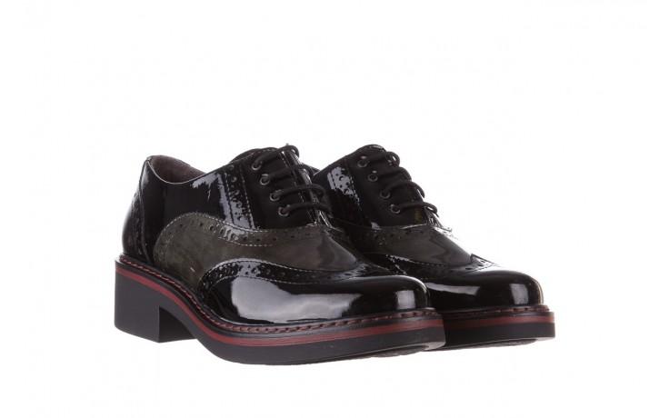Półbuty pitillos 5821 negro-verd, czarny, skóra naturalna lakierowana - półbuty - buty damskie - kobieta 1