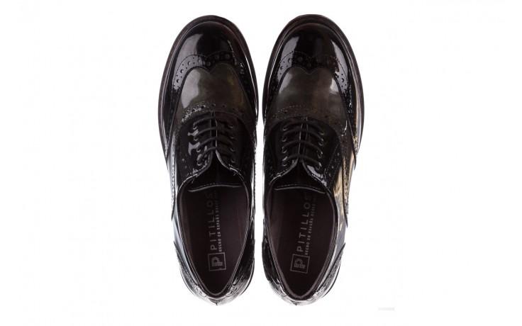 Półbuty pitillos 5821 negro-verd, czarny, skóra naturalna lakierowana - półbuty - buty damskie - kobieta 4