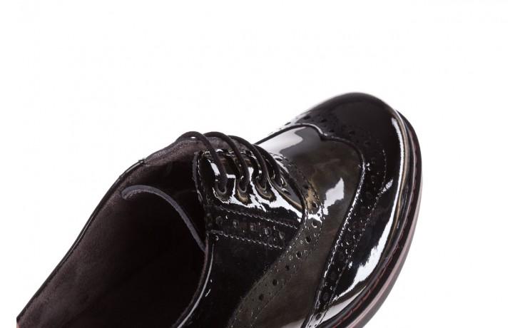 Półbuty pitillos 5821 negro-verd, czarny, skóra naturalna lakierowana - półbuty - buty damskie - kobieta 5