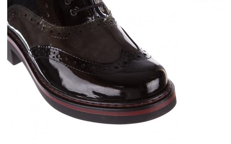 Półbuty pitillos 5821 negro-verd, czarny, skóra naturalna lakierowana - półbuty - buty damskie - kobieta 6