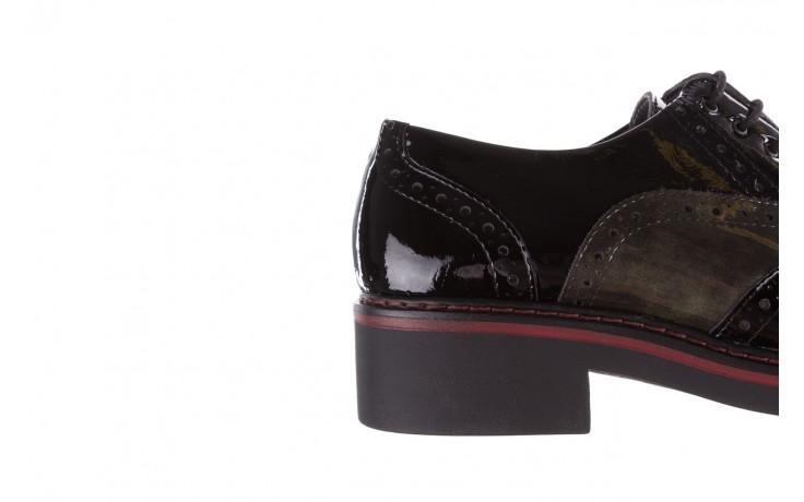 Półbuty pitillos 5821 negro-verd, czarny, skóra naturalna lakierowana - półbuty - buty damskie - kobieta 8