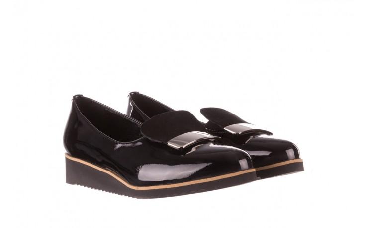 Półbuty bayla-157 b017-090-p czarny 157019, skóra naturalna lakierowana - skórzane - półbuty - buty damskie - kobieta 1