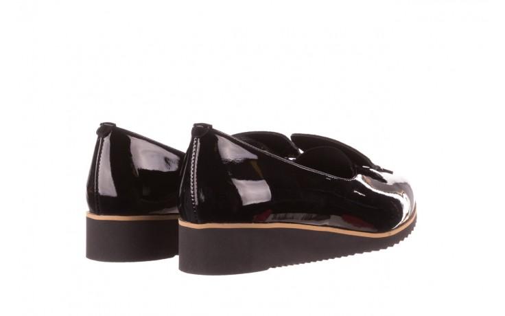 Półbuty bayla-157 b017-090-p czarny 157019, skóra naturalna lakierowana - skórzane - półbuty - buty damskie - kobieta 4