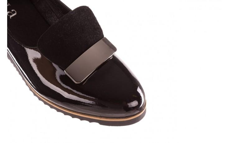 Półbuty bayla-157 b017-090-p czarny 157019, skóra naturalna lakierowana - półbuty - buty damskie - kobieta 6
