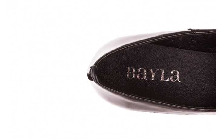 Półbuty bayla-157 b017-090-p czarny 157019, skóra naturalna lakierowana - półbuty - buty damskie - kobieta 7