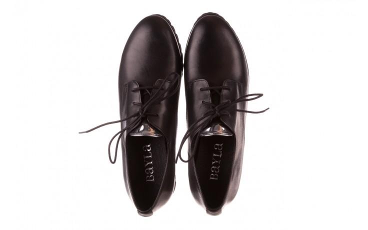 Półbuty bayla-157 b021-076-p czarny 157018, skóra naturalna - skórzane - półbuty - buty damskie - kobieta 5