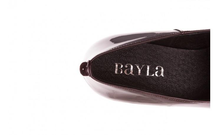 Półbuty bayla-157 b017-009-p bordo 157017, skóra naturalna lakierowana - skórzane - półbuty - buty damskie - kobieta 7