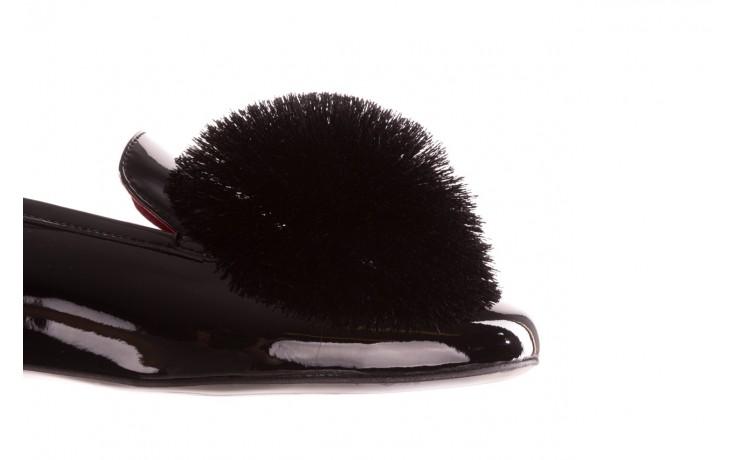 Półbuty bayla-157 b018-090-p czarny 157015, skóra naturalna lakierowana 7