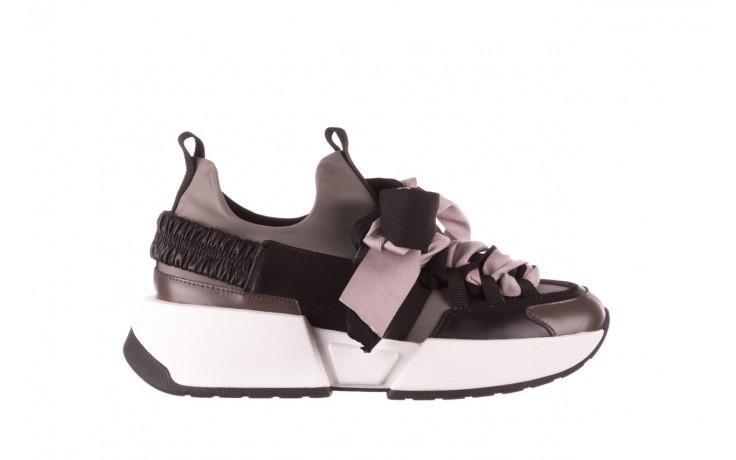 Sneakersy sca'viola e-32  graphite, szary, skóra naturalna - sale