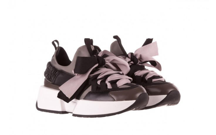 Sneakersy sca'viola e-32  graphite, szary, skóra naturalna - sale 1