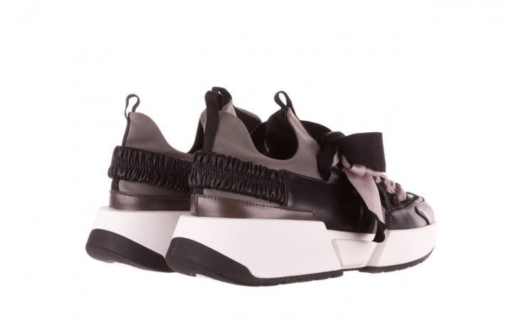 Sneakersy sca'viola e-32  graphite, szary, skóra naturalna - sale 4