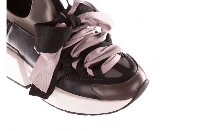 Sneakersy sca'viola e-32  graphite, szary, skóra naturalna - sale 6