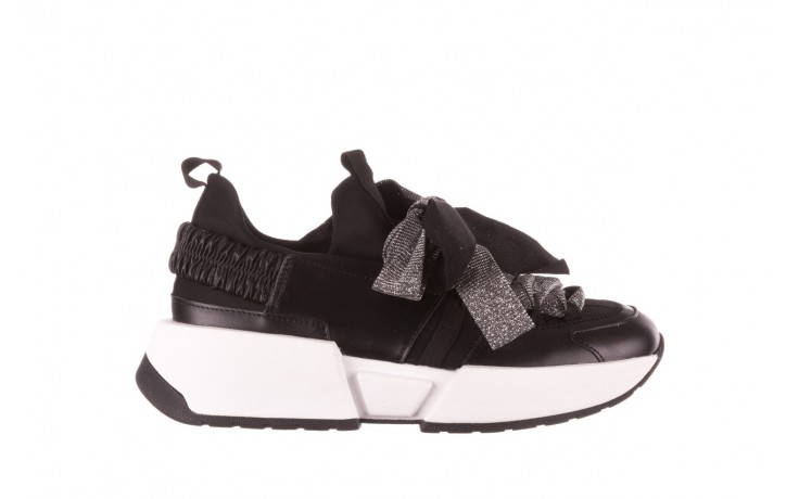 Sneakersy sca'viola e-31  black, czarny, skóra naturalna