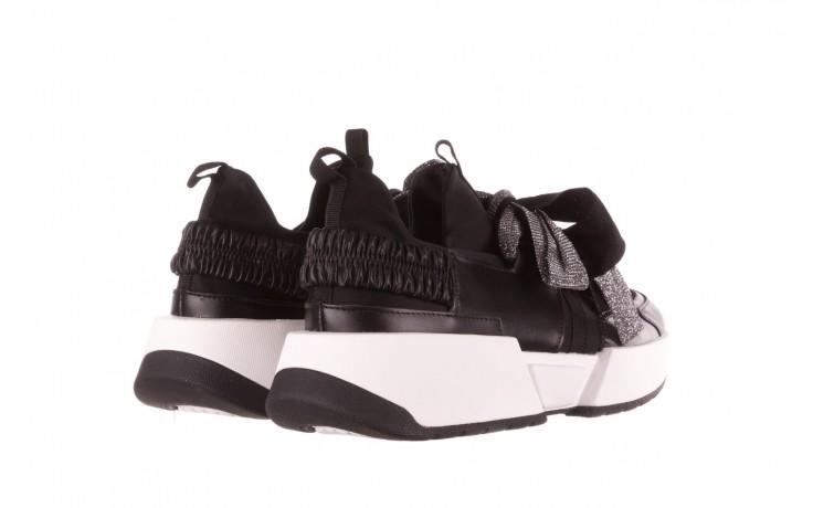 Sneakersy sca'viola e-31  black, czarny, skóra naturalna  - sneakersy - buty damskie - kobieta 4