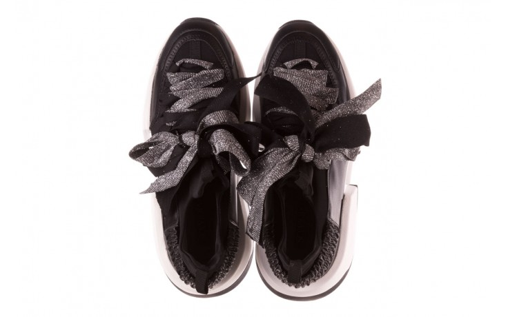Sneakersy sca'viola e-31  black, czarny, skóra naturalna 5