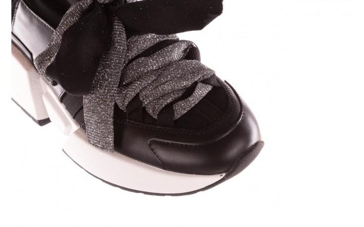 Sneakersy sca'viola e-31  black, czarny, skóra naturalna 6