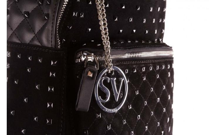 Plecak sca'viola t-57 black, czarny, skóra naturalna  - torebki - akcesoria - kobieta 4