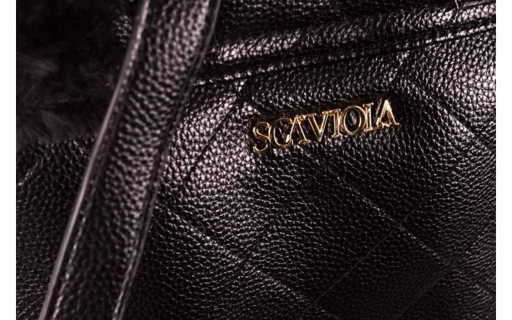Plecak sca'viola t-58 black, czarny, skóra naturalna  - torebki - akcesoria - kobieta 4