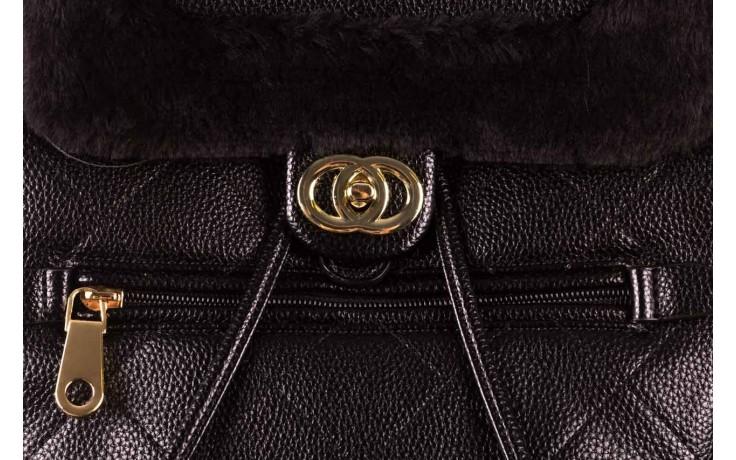 Plecak sca'viola t-58 black, czarny, skóra naturalna  - torebki - akcesoria - kobieta 5