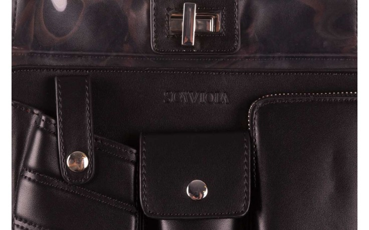 Torebka sca'viola t-59 black, czarny, skóra naturalna  - torebki - akcesoria - kobieta 3