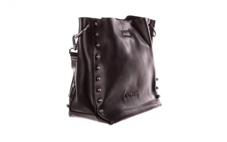Torebka sca'viola t-56 black, czarny, skóra naturalna  - torebki - akcesoria - kobieta 1