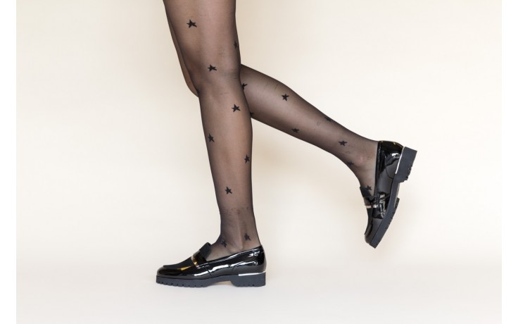 Półbuty bayla-157 b017-090-p czarny 157019, skóra naturalna lakierowana - skórzane - półbuty - buty damskie - kobieta 2