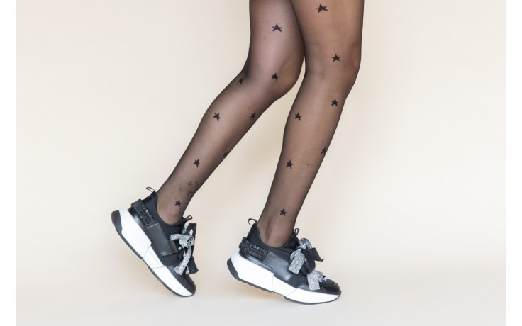 Sneakersy sca'viola e-31  black, czarny, skóra naturalna 2