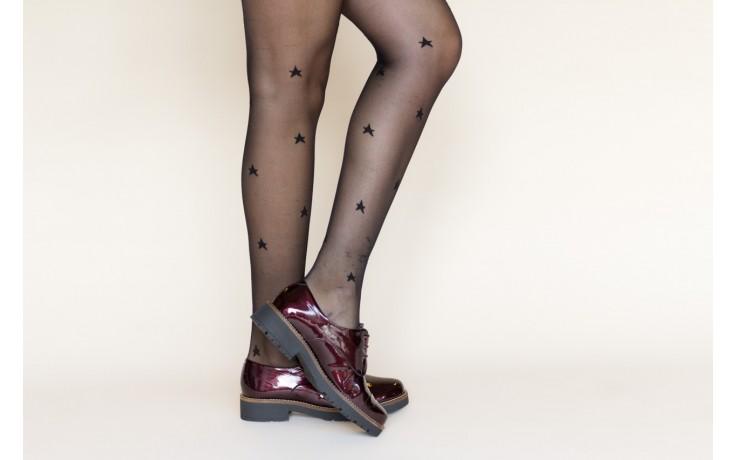 Półbuty pitillos 5790 burdeos, bordowy, skóra naturalna lakierowana  - na obcasie - półbuty - buty damskie - kobieta 2