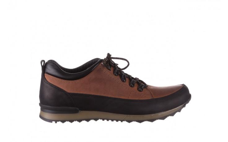 Półbuty bayla-081 855 brązowo-czarne 19, skóra naturalna  - trzewiki - buty męskie - mężczyzna