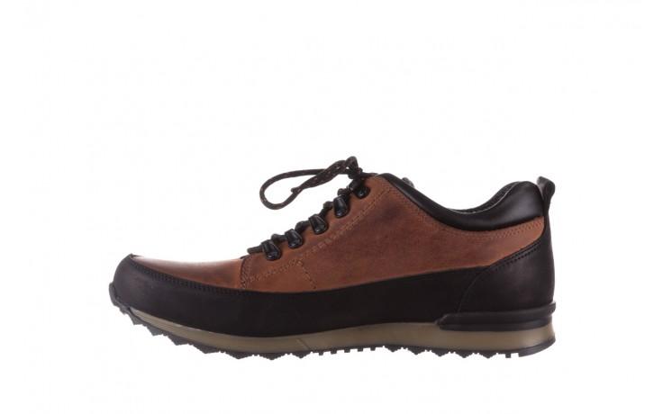 Półbuty bayla-081 855 brązowo-czarne 19, skóra naturalna  - trzewiki - buty męskie - mężczyzna 2