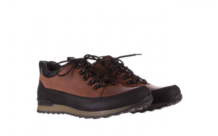 Półbuty bayla-081 855 brązowo-czarne 19, skóra naturalna  - trzewiki - buty męskie - mężczyzna 1