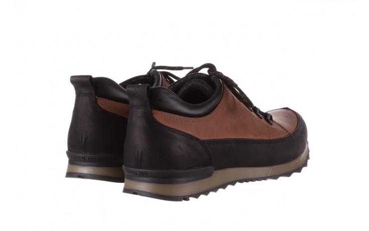 Półbuty bayla-081 855 brązowo-czarne 19, skóra naturalna  - trzewiki - buty męskie - mężczyzna 3