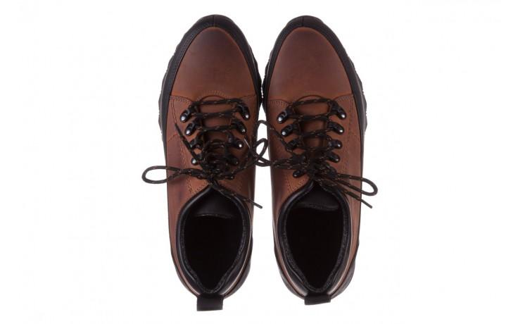 Półbuty bayla-081 855 brązowo-czarne 19, skóra naturalna  - trzewiki - buty męskie - mężczyzna 4